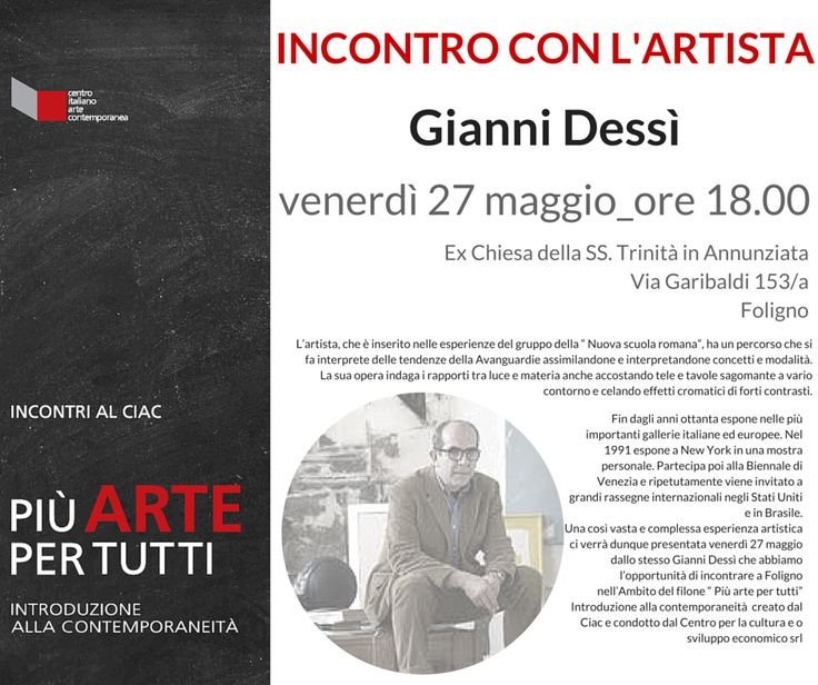 conferenza Più arte per tutti  del 27 maggio 2016 - Gianni Dessi