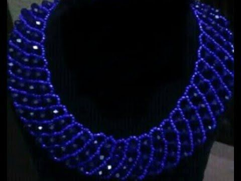 the tutorial on how to make this hand made beaded jewelry necklace. - YouTube