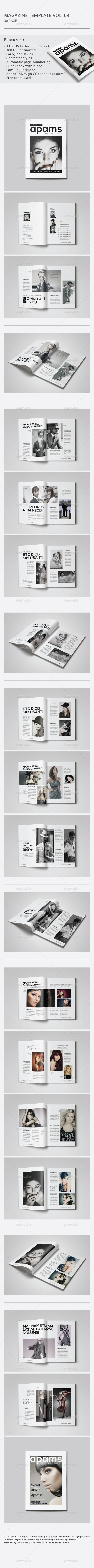 Indesign Magazine Template #magazinetemplate Download: http://graphicriver.net/item/indesign-magazine-template-vol09/9498512?ref=ksioks