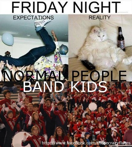 Band kids know how to party on Fridays!! And we party on the football field!