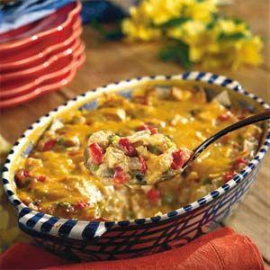 Cheesy Chicken Casseroles  | Light King Ranch Chicken Casserole | MyRecipes.com
