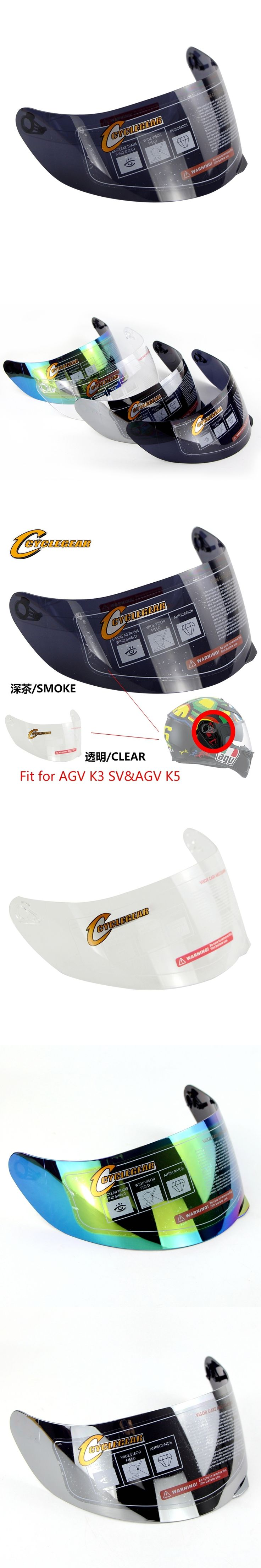 4 Colors Motorcycle Helmet Visor Fitting For AGV K5&AGV K3 SV&Cyclegear 902&CG316 Helmet Accessories&Parts