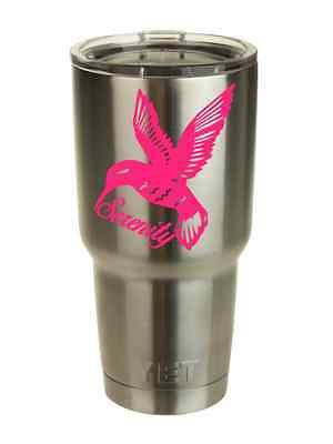 Personalized Hummingbird Vinyl Custom Decal Sticker Yeti Tumbler Car