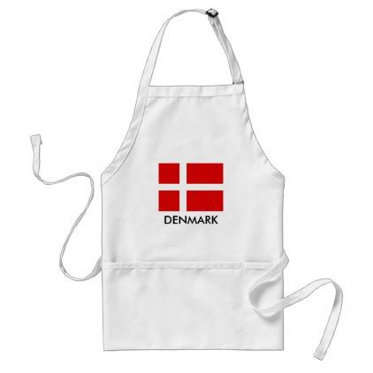 Danish flag BBQ kitchen apron for men and women - cyo diy customize gift idea