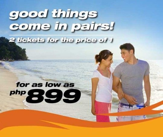 Seat Sale Alert Tiger Airways Philippines Two Tickets for the Price of One Promo.  Tiger Airways Philippines offers you Two tickets for the price of one (Select Flights).  Travel period from 15 June 2013 to 10 October 2013.  http://tigerairways.ph/tiger-airways-philippines-two-for-one/ #tigerairways #tigerairwayspromos #airlinepromos #budgetairlines