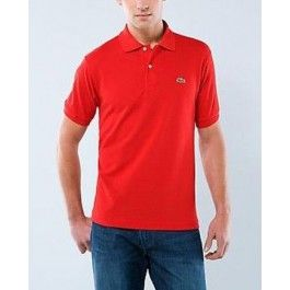 Men Polo Shirt, Short Sleeve, Red Color