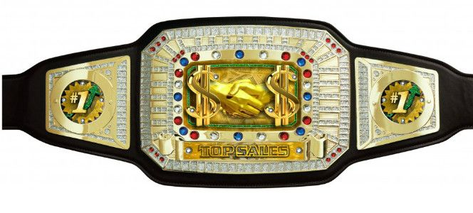 Crown Your Champion. All the proof you need. Genuine leather belt is 52″ long with 8 rows of heavy duty snaps.