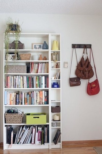 purses+ you don't have to use Billy cd shelf for CDs!