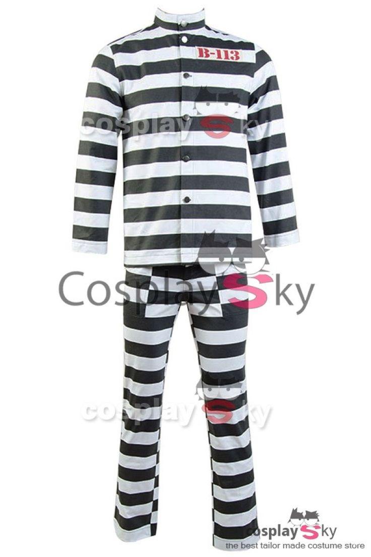Batman Gotham 2 Pingouin Oswald Cobblepot B-113 Arkham Uniforme de Prisonnier Cosplay Costume_1
