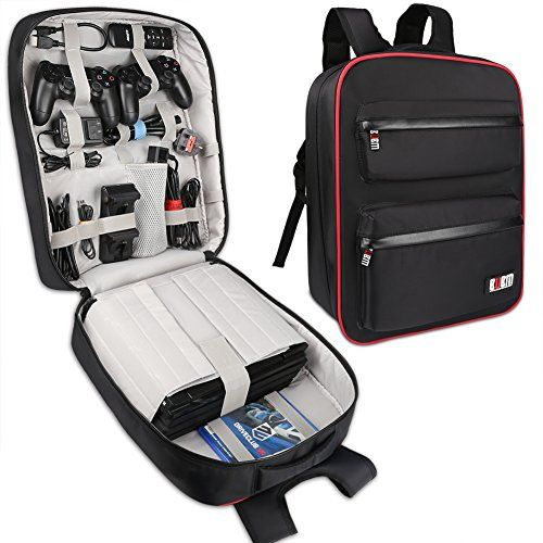 BUBM Sony PS4 Game Bag Backpack Travel Gear Carry Case for PS4 Pro Game Console and Accessories Lightweight and High Capacity Fits for PS4 PS4 Slim PS4 Pro Xbox Xbox One S