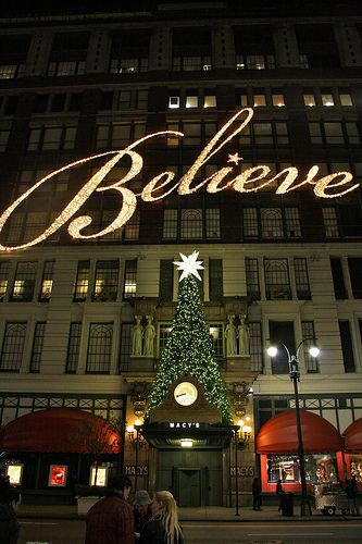 Christmas at Macy's Department Store in New York City.