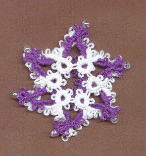 Really cute and easy tatted snowflake.