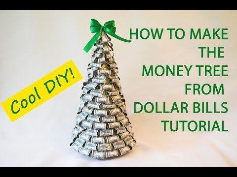 Money Tree Dollars Bills Craft Tutorial DIY Gift Decoration - YouTube | Diy  christmas gift | Money trees, Gifts, Money - Money Tree Dollars Bills Craft Tutorial DIY Gift Decoration