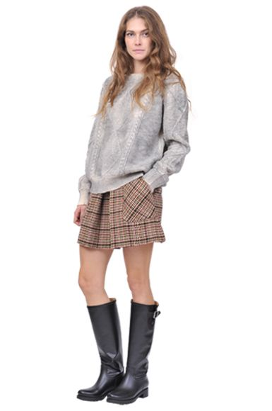 Sporty look : MM6 sweater and boots, See by Chloe' skirt www.suite123.it