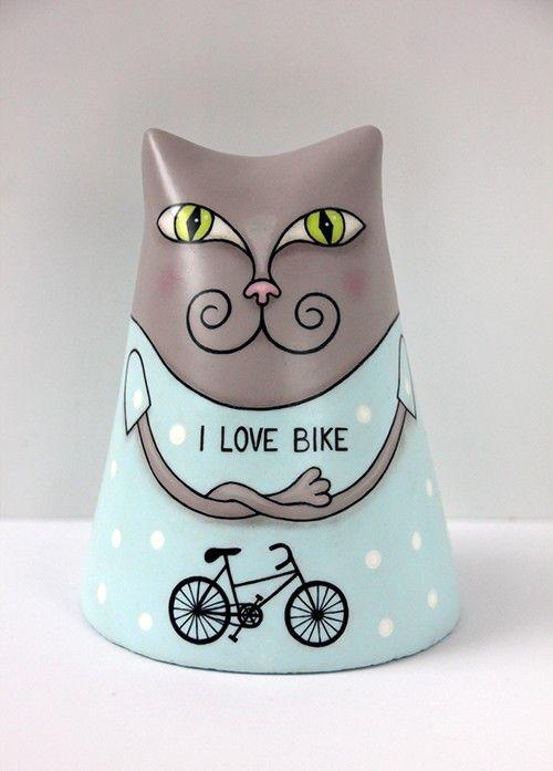 Kot kochający rower