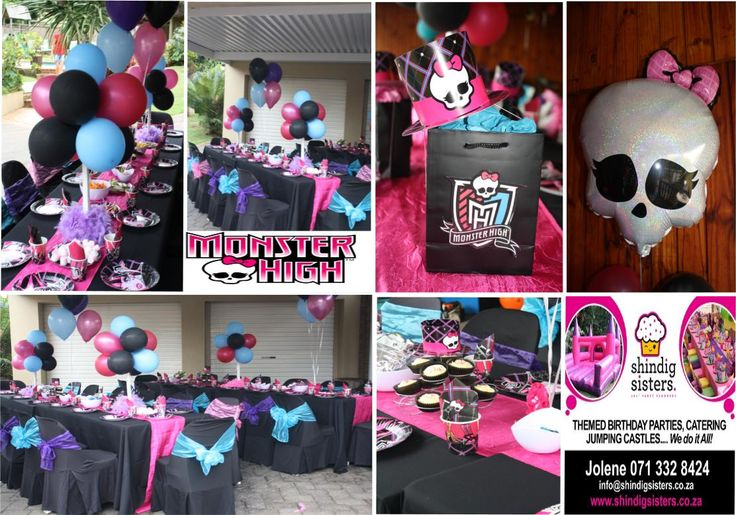A Monster High Birthday party for 8 year olds set up by Shindig Sisters on the Bluff, Durban