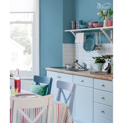 dulux easycare kitchen stonewashed blue matt paint 2 5l. Black Bedroom Furniture Sets. Home Design Ideas