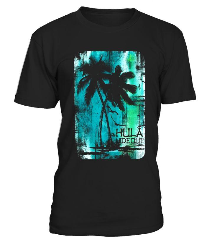 Vintage Hula Hideout Palm T-shirt For Women Men  Funny vintage music T-shirt, Best vintage music T-shirt
