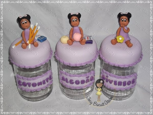 Potes bebê em biscuit: Girls, Modelaje Porcelana, Vials, Baby, Pots Decorated, Polymer Leire