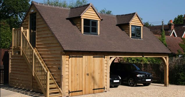 The 25 best timber frame garage ideas on pinterest for Carport flooring ideas
