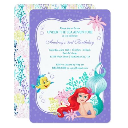 Ariel | Under the Sea Adventure Birthday Card - click/tap to personalize and buy