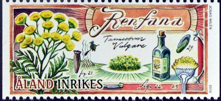 Stamp%3A%20Tansy%20(Tanacetum%20vulgare)%20(%C3%85land%20Islands)%20(Medicinal%20plants)%20Mi%3AAX%20424%2CUn%3AAX%20424%20%23colnect%20%23collection%20%23stamps