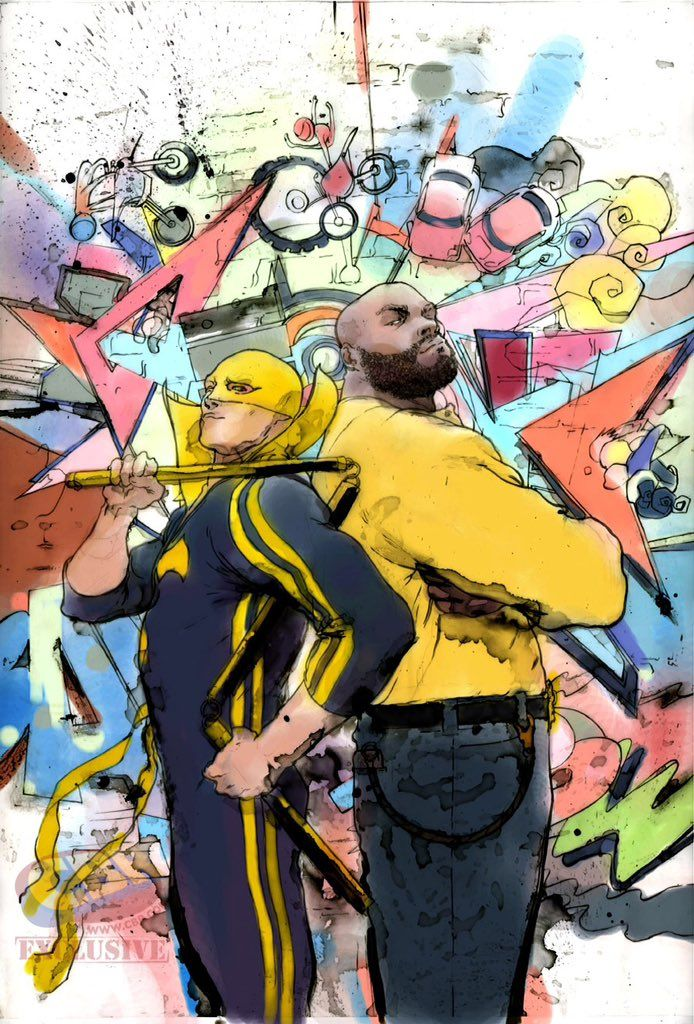 Iron Fist and Power Man by Keron Grant