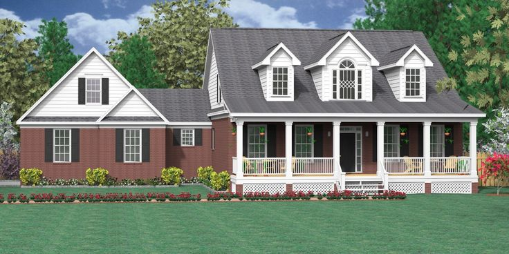 24 best images about 1 1 2 story house plans on pinterest for Two story cape cod house plans