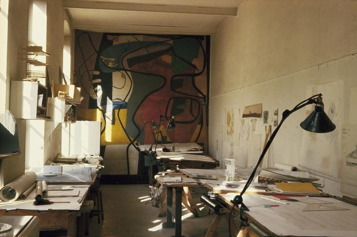 FRANCE. LE CORBUSIER, painter, urbanist & architect. 1959