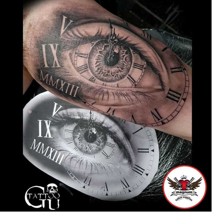 Eye tattoo by Gavin Underhill created with #magnumtattoosupplies