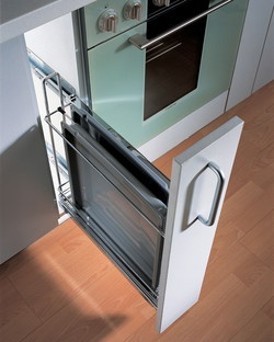 Hafele Kitchen Base Cabinet Pull-Out for Baking Trays w/ Dampening Function #kitchensource #pinterest #followerfind