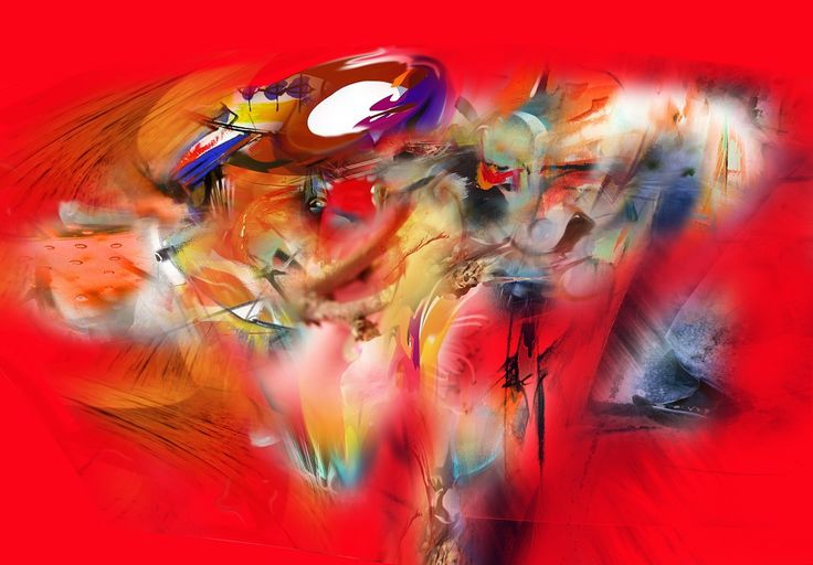 RED AMBIENT MIX 2014- 1 [Mixed Media on Canvas 115x165cms]