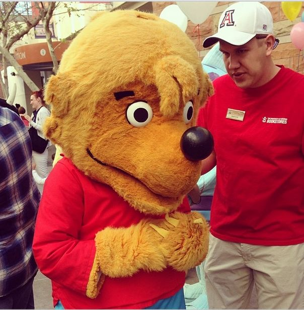 Brother Bear and Sister Bear were both special guests at the Tucson Festival of Books.