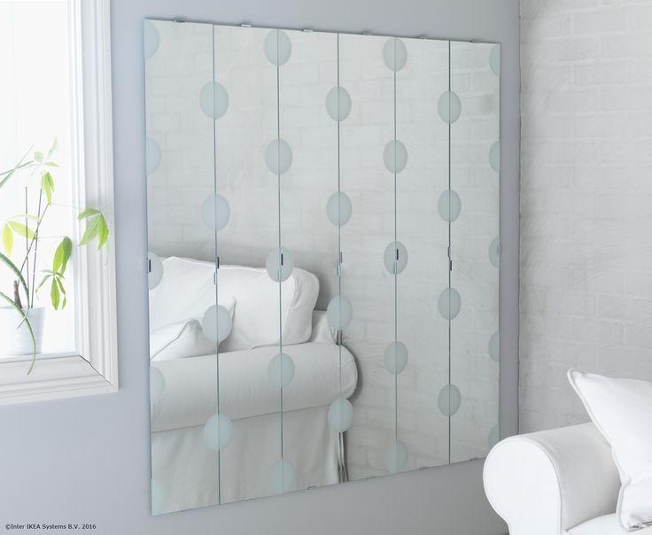 Poți personaliza oglinda LUNDAMO cu ușurință, în funcție de spațiul pe care îl ai la dispoziție.