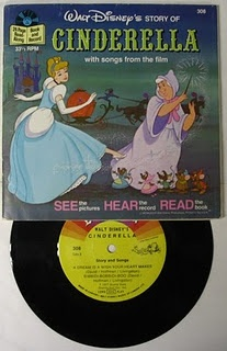Cinderella read along record book- I had this! https://www.facebook.com/NobodyPutsBabyinCorner