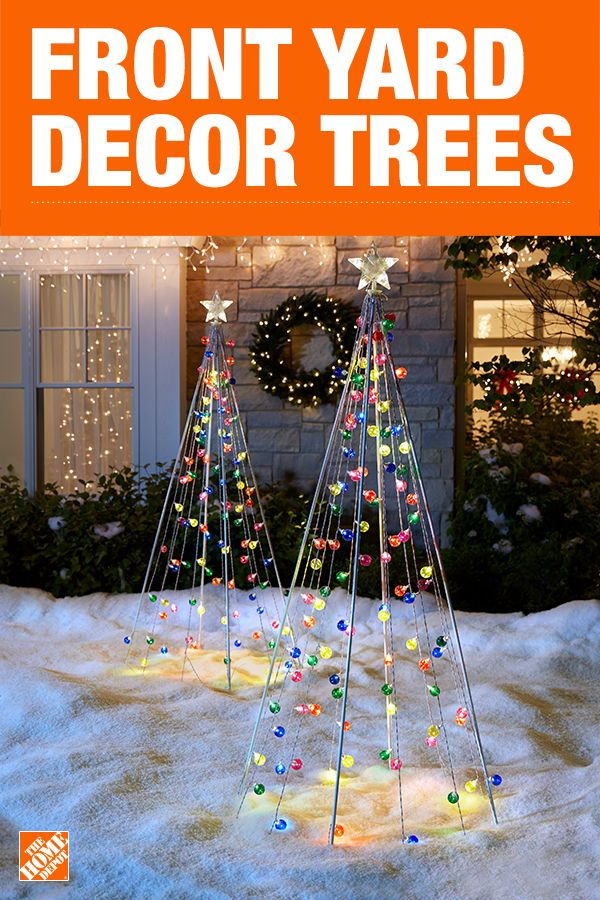 If one Christmas tree just isn't enough to show off all your holiday cheer, consider a glowing LED tree sculpture for the front yard. Featuring beautiful lights in a variety of colors, these sculptures make a vibrant and festive addition to any outdoor scene. Showcase them on their own or in multiples for a brilliant display. Click to shop yard decor trees.