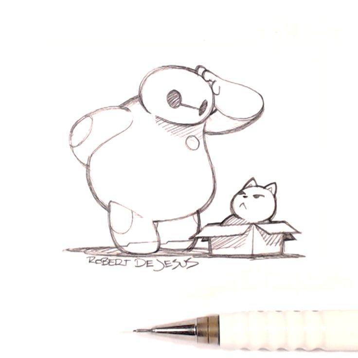 Baymax and Mochi by Banzchan.deviantart.com on @deviantART