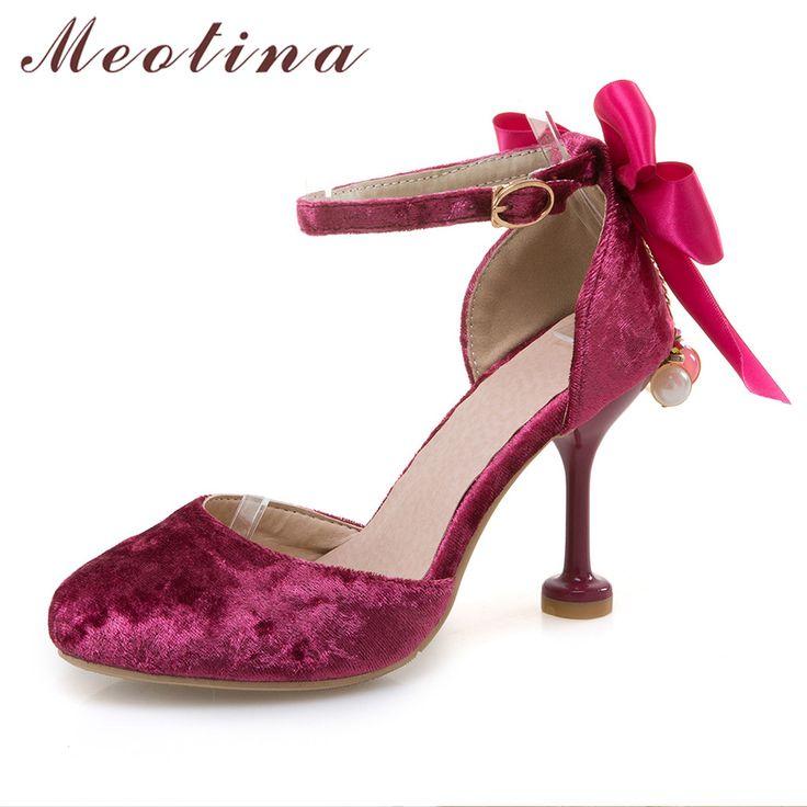 Bow Tie, Damenschuhe, High Heels, Sandalen, Schuhe der feinen Ferse Frauen, Violett, 43