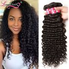 Malaysian Deep Wave Hair Weaves 3Bundles Unprocessed Curly Human Hair Extensions #ad