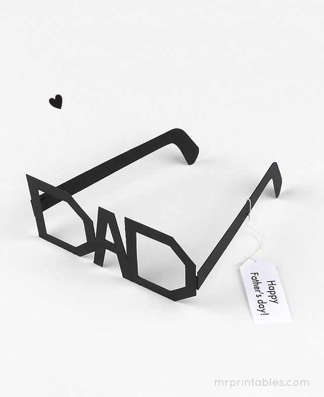 Dad Glasses - free printable #fathersday #crafts