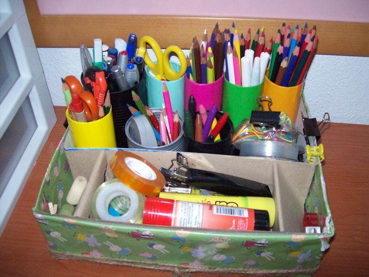 Organizador para el escritorio mis trabajos pinterest - Organizador escritorio ...