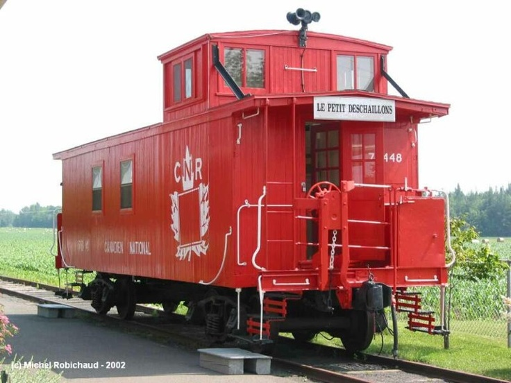 Canadian National Railway caboose. Cabooses Pinterest