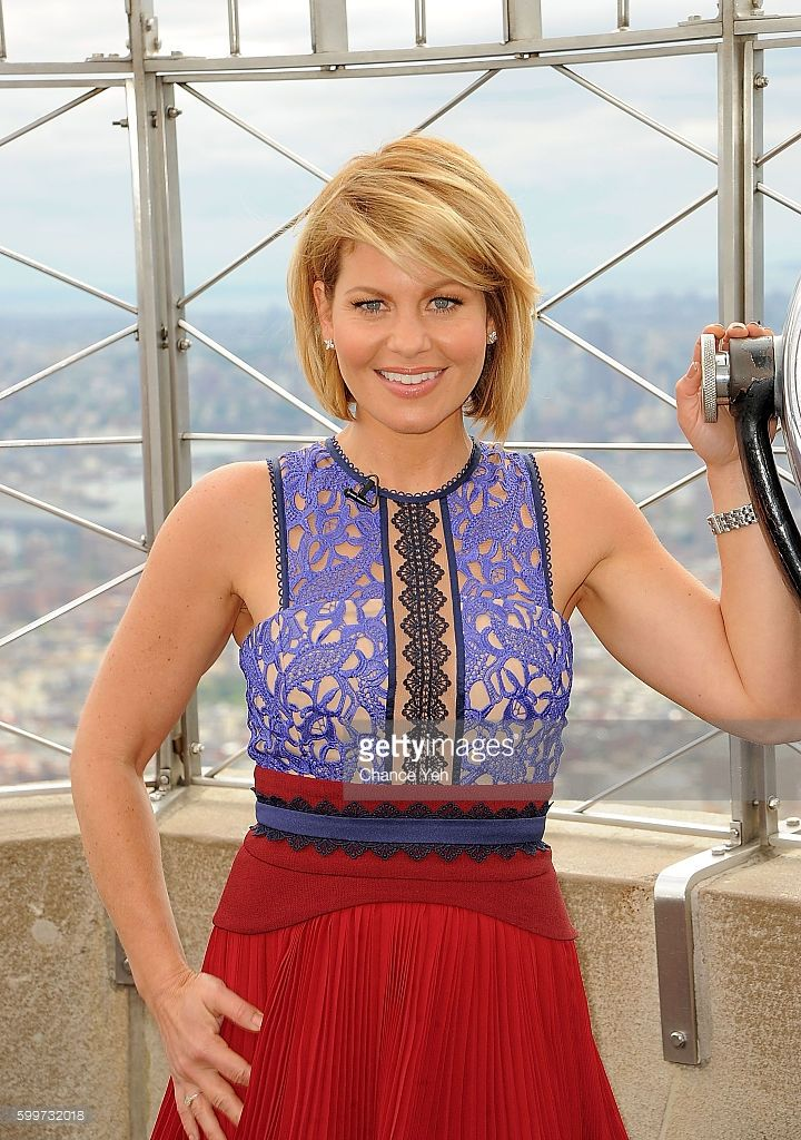 'The View' co-host Candace Cameron Bure lights the Empire State Building at Empire State Building on September 6, 2016 in New York City.