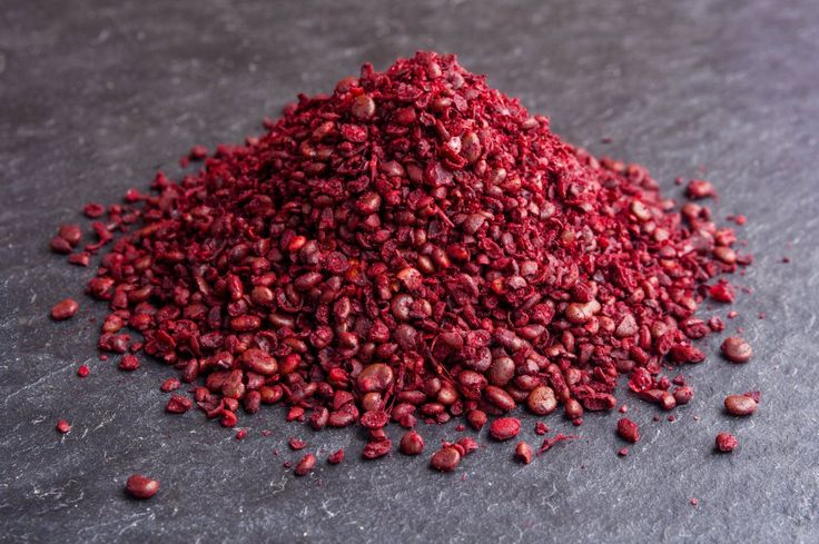 Sumac! No, I'm not talking about the wild stuff growing in your backyard that once gave you an itchy rash. While it is related, the sumac I'm talking about is far from poisonous, and makes a wonderfully delicious addition to any spice cupboard.