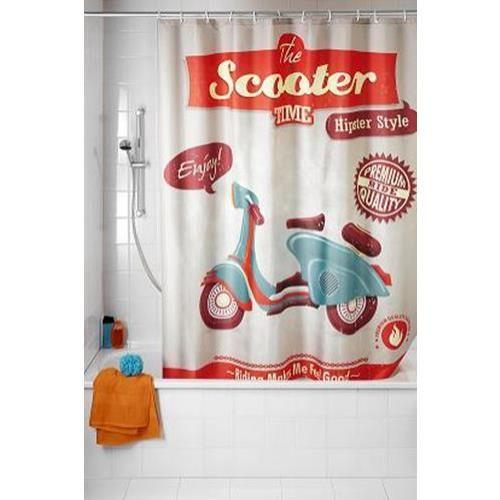 cortina baño vintage scooter 21586