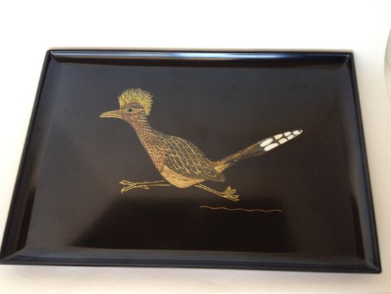 Couroc Roadrunner Large Tray Platter Monterey by trailsofthewest