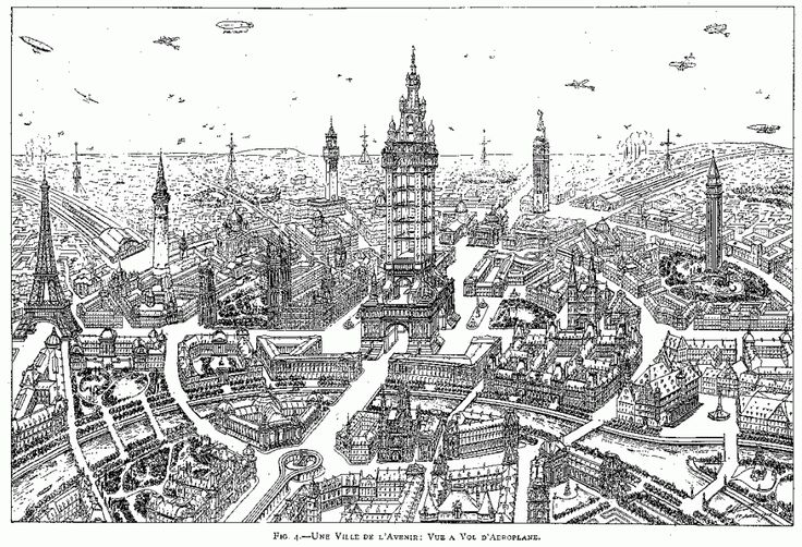 Eugène Hénard, The Cities of The Future, published in American City, January 1911