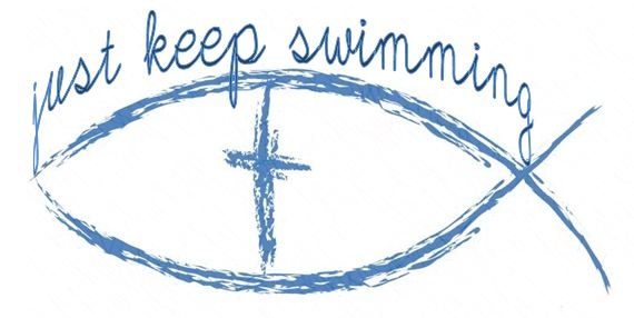 Just keep swimming tattoo i love this i love the fact it for How to protect a new tattoo when swimming