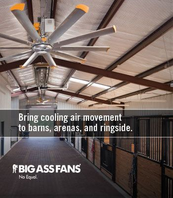 keep your barn and horses cool with big ass fans a must for summer time