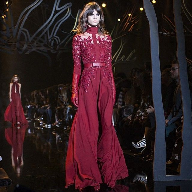 With Elie Saab AW15 is a daydream that will never end... #PFW